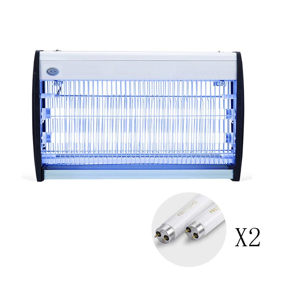 LIQICAI 蚊ランプ殺虫灯 アルミニウム合金 蚊を誘惑するUV光 ソケット110V ハンギングチェーンフレーム/スタンドフレーム、 3サイズオプション (色 : White+2*Tube, サイズ さいず : 650x95x310mm) B07DDMMS7V  White+2*Tube 650x95x310mm