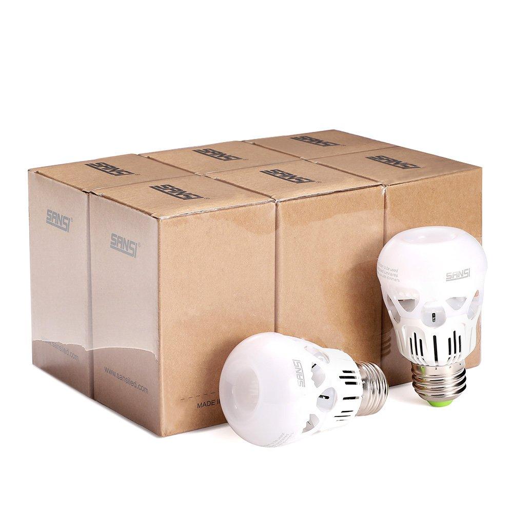 SANSI 40 watt Light Bulbs 5w LED Bulb Equivalent 40w Incandescent Bulb Daylight 5000k Cool White A15 LED Bulb E26 Base 500 Lumen Non-dimmable Energy Saving Bulb for Fans Lamps 5-Year Warranty (6-Pack) by SANSI (Image #8)