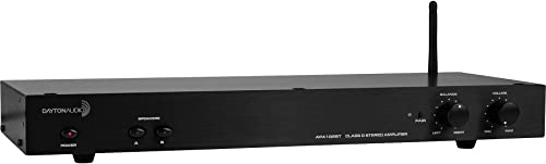 Dayton Audio APA102BT Class D Stereo 60 WPC Bluetooth Amplifier