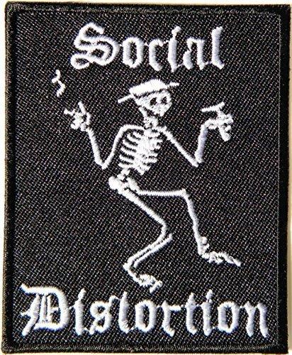 Social Distortion Skeleton Costume (SOCIAL DISTORTION Skeleton Skull Logo Punk Rock Heavy Metal Music Band Jacket shirt hat blanket backpack T shirt Patch Embroidered Appliques Symbol Badge Cloth Sign Costume Gift)