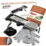 Pronto Kitchen Adjustable Stainless Steel Mandoline Food Slicer -...