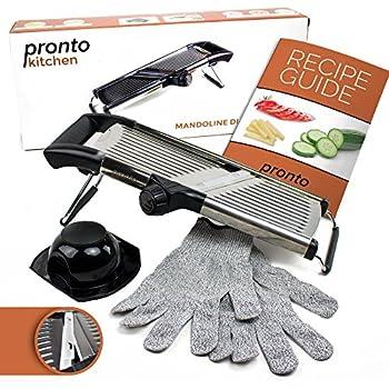 Amazon Com Adjustable Stainless Steel Mandoline Slicer