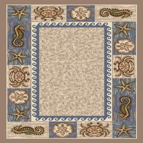 Milliken Signature Collection Sea Life Rectangle Area Rug, 2'8