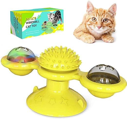 3T6B Juguetes Interactivos para Gatos, Juguete Giratorio de Molino de Viento para Gatos, Juguete para Rascar Lechón Gato Molar: Amazon.es: Productos para mascotas