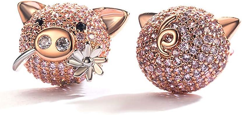 Cocobanana Womens Earrings Silver Ear Stud with Azorite Stones