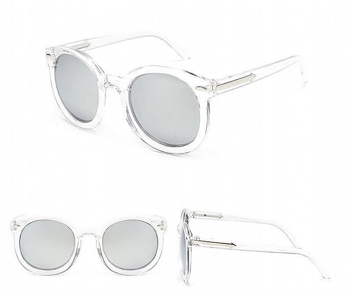 Inkjet Farbe Sonnenbrille Fluoreszierende Farbe Personalisierte Sonnenbrille Männliche Brille Transparentes Weißes Silber THLKur