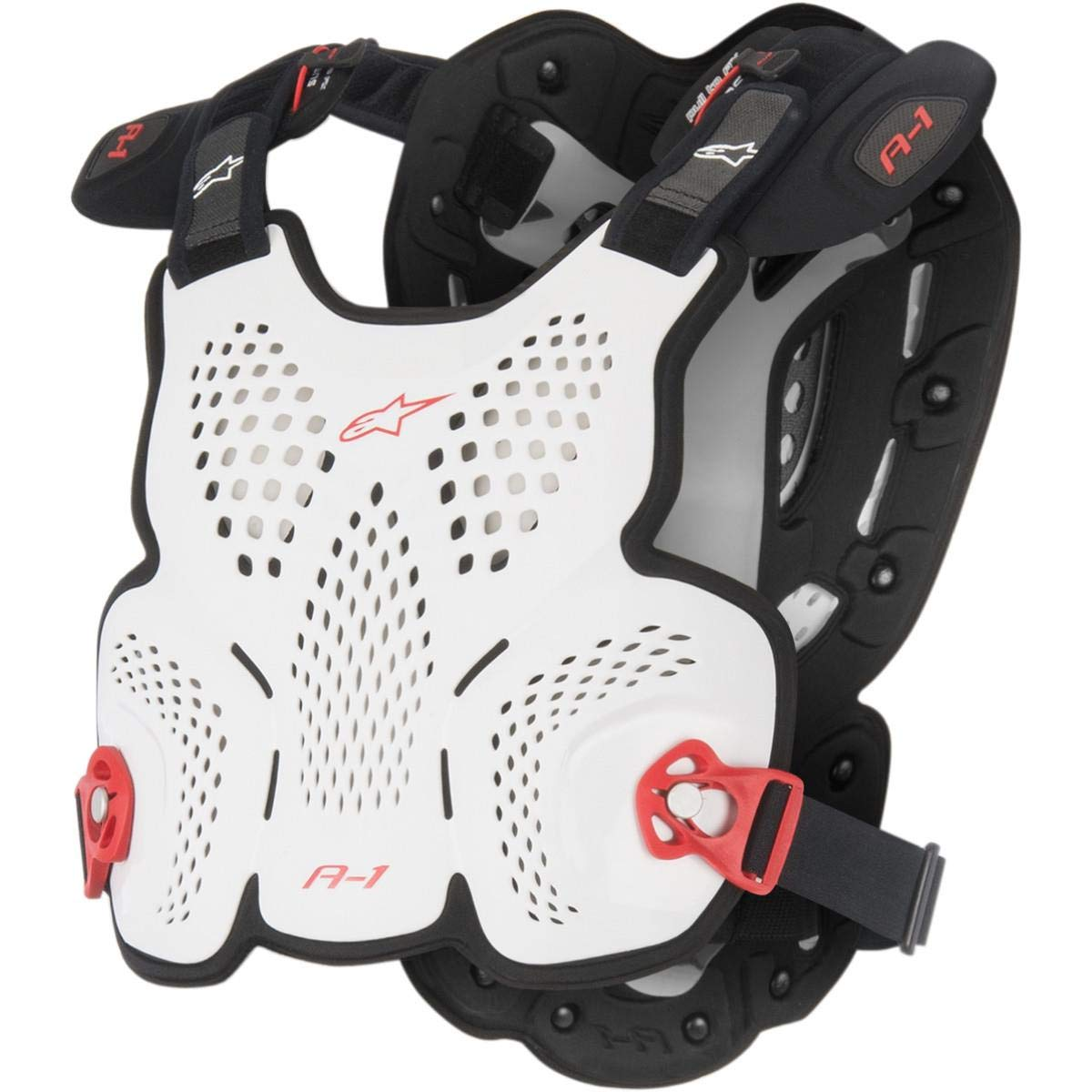 Alpinestars White-Black-Red A1 Roost Guard MX Chest Protector