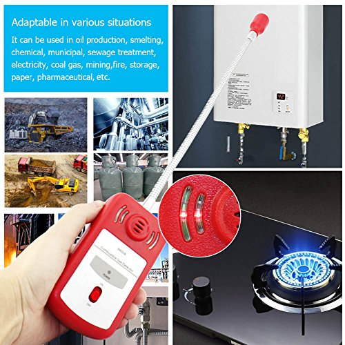 Combustible Gas Detector Portable Natural Gas Leak Detector Tester with Sound Light Alarm Gas Sniffer — Tektree by Tektree (Image #3)