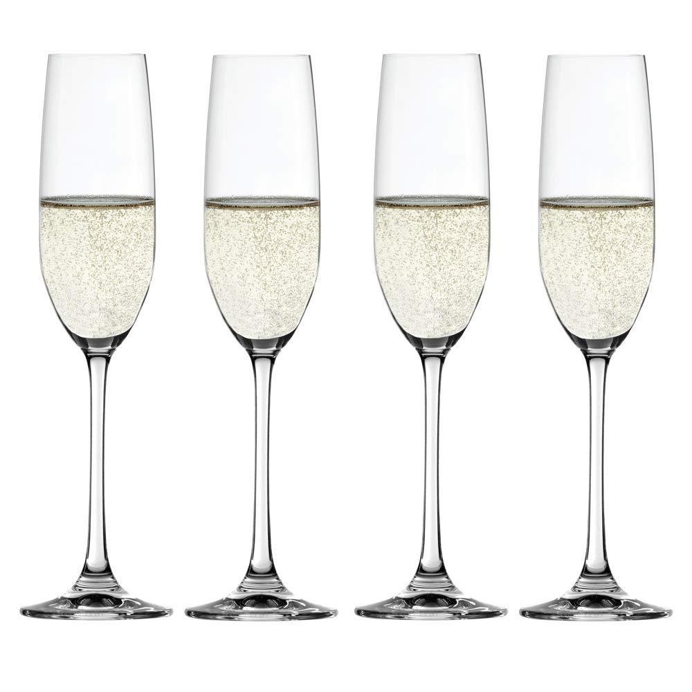 Spiegelau Salute Champagne Flutes (Set of 4), 7.4 oz, Clear 4720175