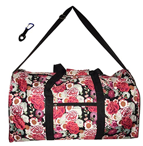 Price comparison product image 21 in Print Duffle,  Overnight,  Carry on Bag with Outside Pocket and Shoulder Strap (Blank - Floral Garden)