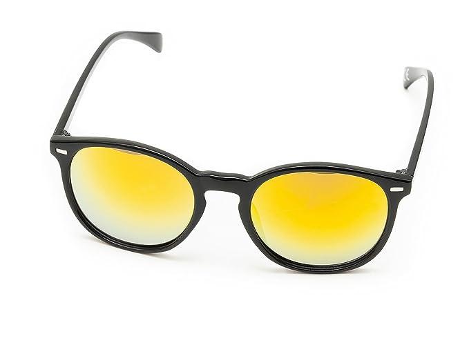 selezione premium 15dc8 71a09 Occhiali da sole uomo donna a specchio vintage casual nero ...