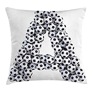 VTXINS Letter A Throw Pillow Cushion Cover by, Realistic ...