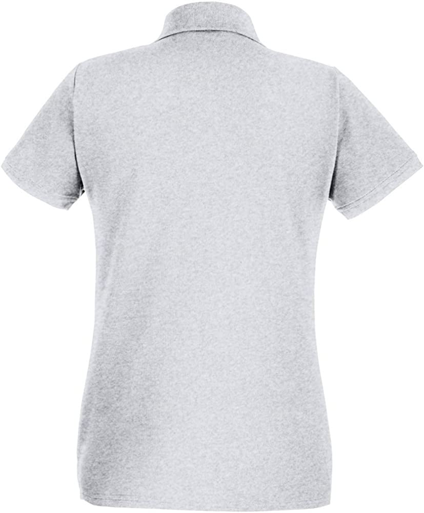 Womens//Ladies Fitted Short Sleeve Casual Polo Shirt