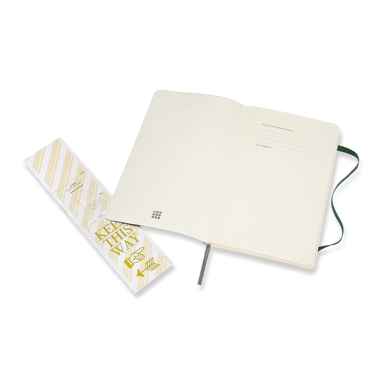 192 Pagine Moleskine Notebook Classic Pagina a Righe Taccuino Copertina Morbida e Chiusura ad Elastico Pocket 9 x 14 cm Rosso Scarlatto