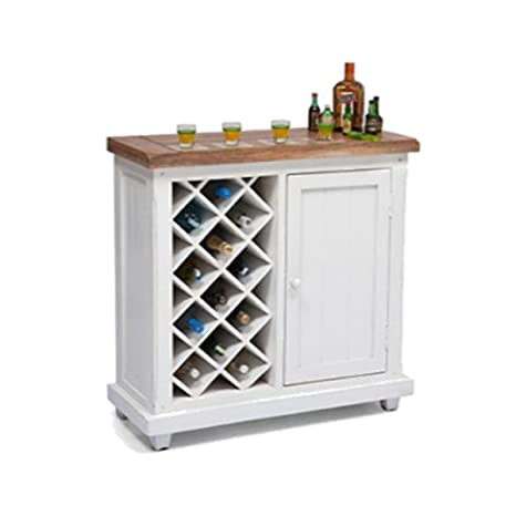 M&C Alaska Sheesham Wood Stylish Bar Cabinet with Wine Glass Storage for Living Room with Classy Finish