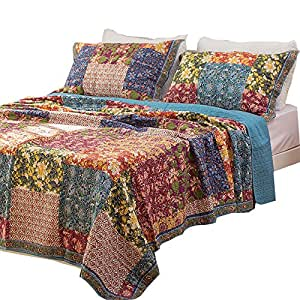 Amazon.com: Luckey1 100% Cotton Patchwork Bedding Sets, Chic King ...