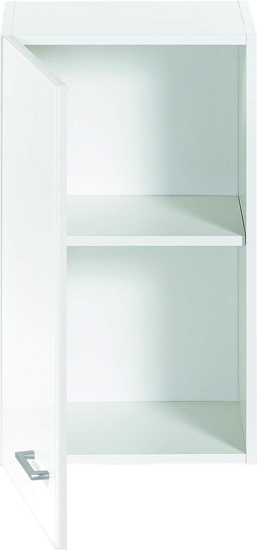 Armario alto de cocina, blanco, de 40cm, con puerta: Amazon ...