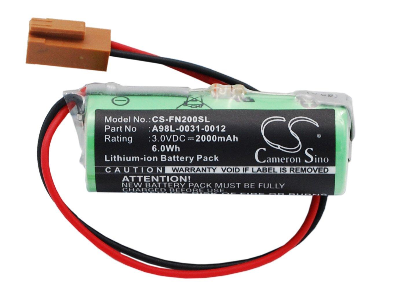 VINTRONS 2000mAh Battery for GE FANUC CNC 16i, FANUC CNC 18i,