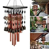 Ylyycc 28 Metal Tube Wind Chime with Copper Bell
