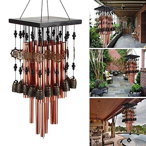 Copper Wind Chime - Ylyycc 28 Metal Tube Wind Chime with Copper Bell
