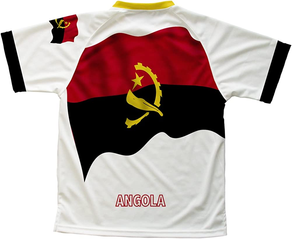 ScudoPro Angola Flag Technical T-Shirt for Men and Women