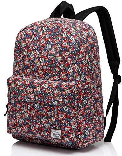 School Backpack for Teen Girls Women 15.6 inch Laptop Fashion Canvas Rucksack Book Bag