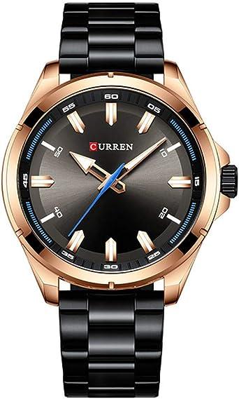 Venta de Relojes para Hombre Hombres Relojes Caja de Acero Inoxidable Dial Cuarzo analógico para Hombre Vestido Impermeable Relojes Relojes para niños: Amazon.es: Relojes
