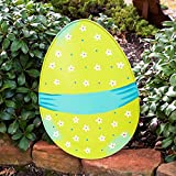 Easter Egg Tabletop Decoration (Green with Banner)