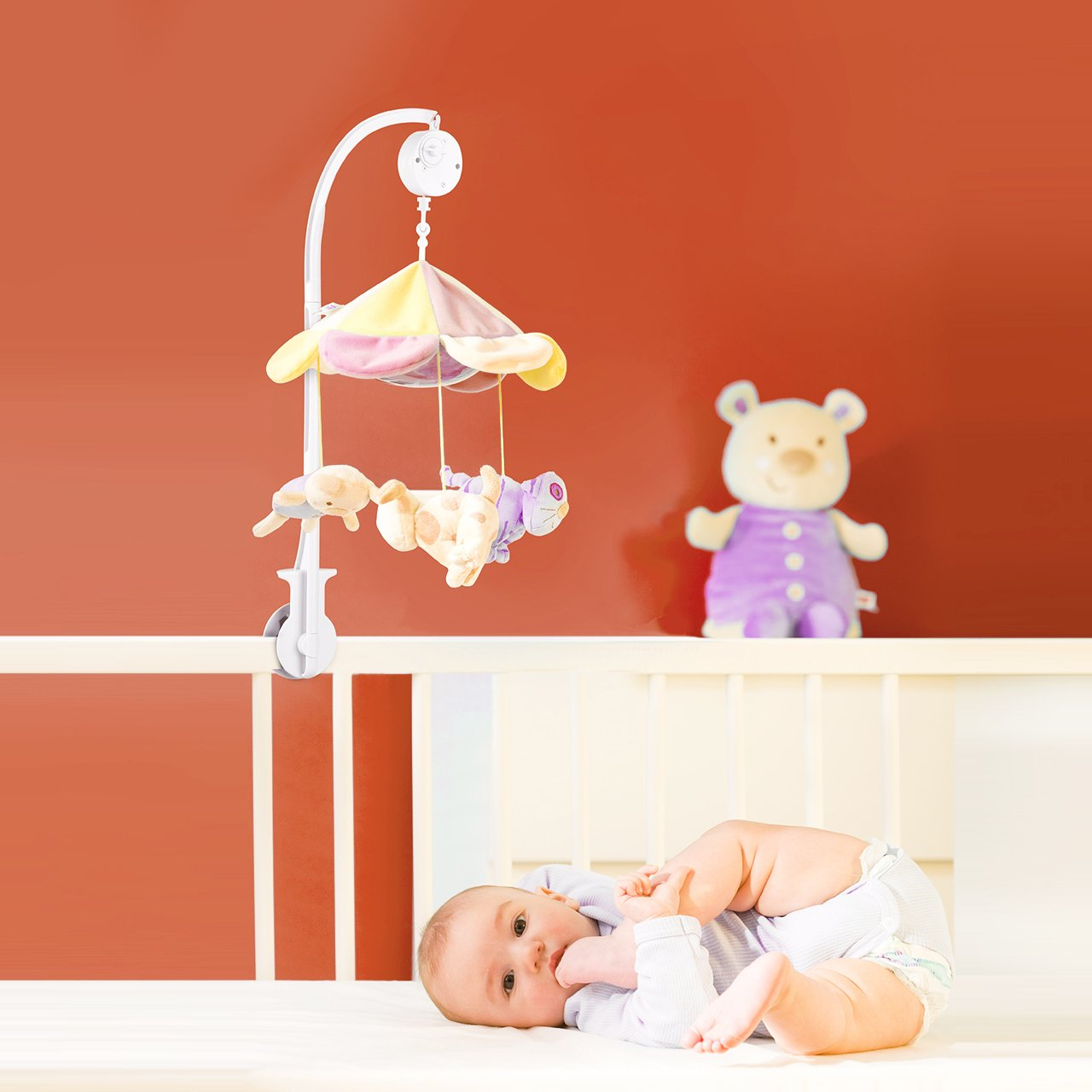 Baby bed name in english - Amazon Com Victsing 34 Inch Long Extended Baby Crib Mobile Music Box Holder Arm Bracket Nut Screw Bed Bell Without Toys Baby