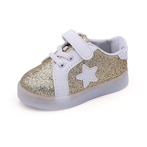 Zapatos de bebé, K-youth® Zapatos para Bebe Cuero Niño Niña Prewalker Light