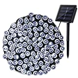 Qedertek Solar String Lights Outdoor, 72ft 200 LED Solar Lights for Wedding, Garden, Home, Patio, Porch, Lawn, Party and Holiday Decorations (Cool White)
