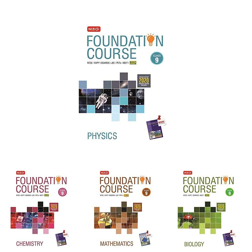 Foundation PCMB ( P hy + Chem + Bio + Maths) for IIT-JEE/NEET/Olympiad for Class – 9 : (Set of 4 books)