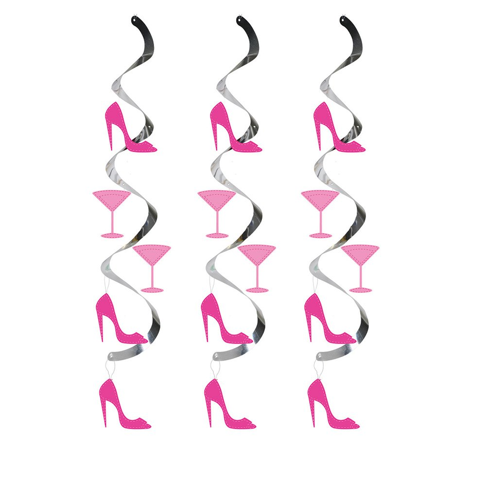 Creative Converting 30-Count Dizzy Danglers Hanging Party Décor, Martini Glass and High Heels by Creative Converting