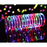 Solar Powered Rope Lights,Findyouled Outdoor Waterproof 100LED 40ft Decoration Light, Automatically Working From Dusk to Dawn (Multi-color)