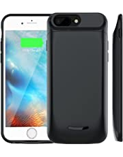 Battery Case for iPhone 6 Plus 6s Plus 7 Plus 8 Plus, Elzle 5000mAh Charging Case Battery for iPhone 6 Plus 6s Plus 7 Plus 8 Plus Rechargeable Battery Backup Portable Charger Case (5.5 inch 5000mAh)