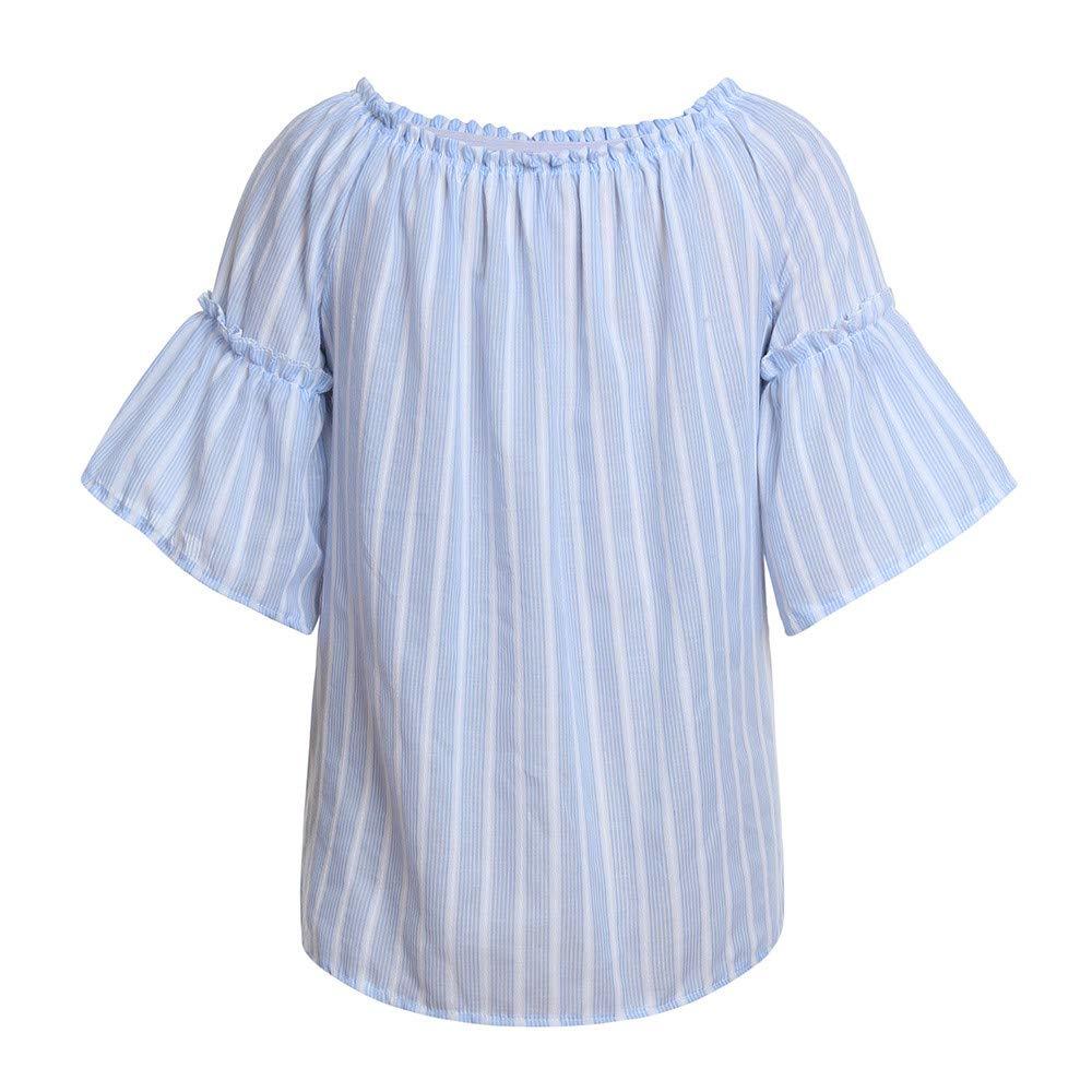 Pregnant Women Nursing T-Shirt Maternity Stripe Off-Shoulder Blouse Tops Clothes Hot Hot