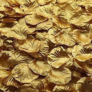 Gresorth Gold Artificial Silk Rose Petals Fake Petal Flower Home Party Wedding Bridal Decoration - 10000 PCS 8