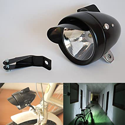 Bright 7 LED Chrome Bicycle Light Retro Bike Headlight Front Night Fog Head Lamp