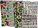 Christmas Tissue Paper, 80 Count, fun holiday colors and prints, 20'' x 20'' sheets