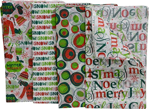 Christmas Tissue Paper, 80 Count, fun holiday colors and prints, 20