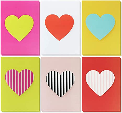 Amazon.com: Paquete de 12 tarjetas de San Valentín ...