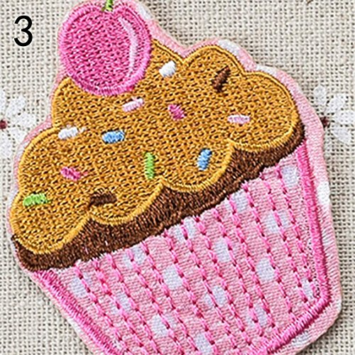 Pony Tail - Cartoon Ice Cream Lin Cake Center Cloth Iron On Patches Ironing Felt Applique Clothes Embroidery - Felt Iron Fish Mould Pony Cake Buffalo Sequin Check Base Storage Patch Tail Blouse