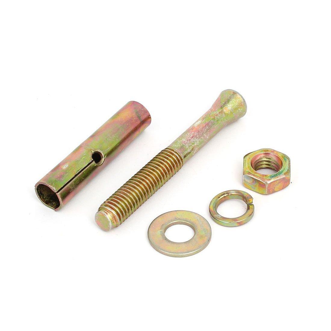 DealMux M10 Dia Tópico Hex Nut Sleeve âncoras de expansão Parafuso Fastener Bronze 20pcs tom