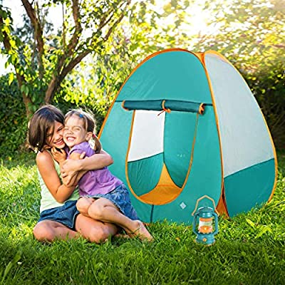 Little Explorers Kids Pop Up Play Tent with Camping Gear Outdoor Toy Tools Set (7 Pieces): Toys & Games