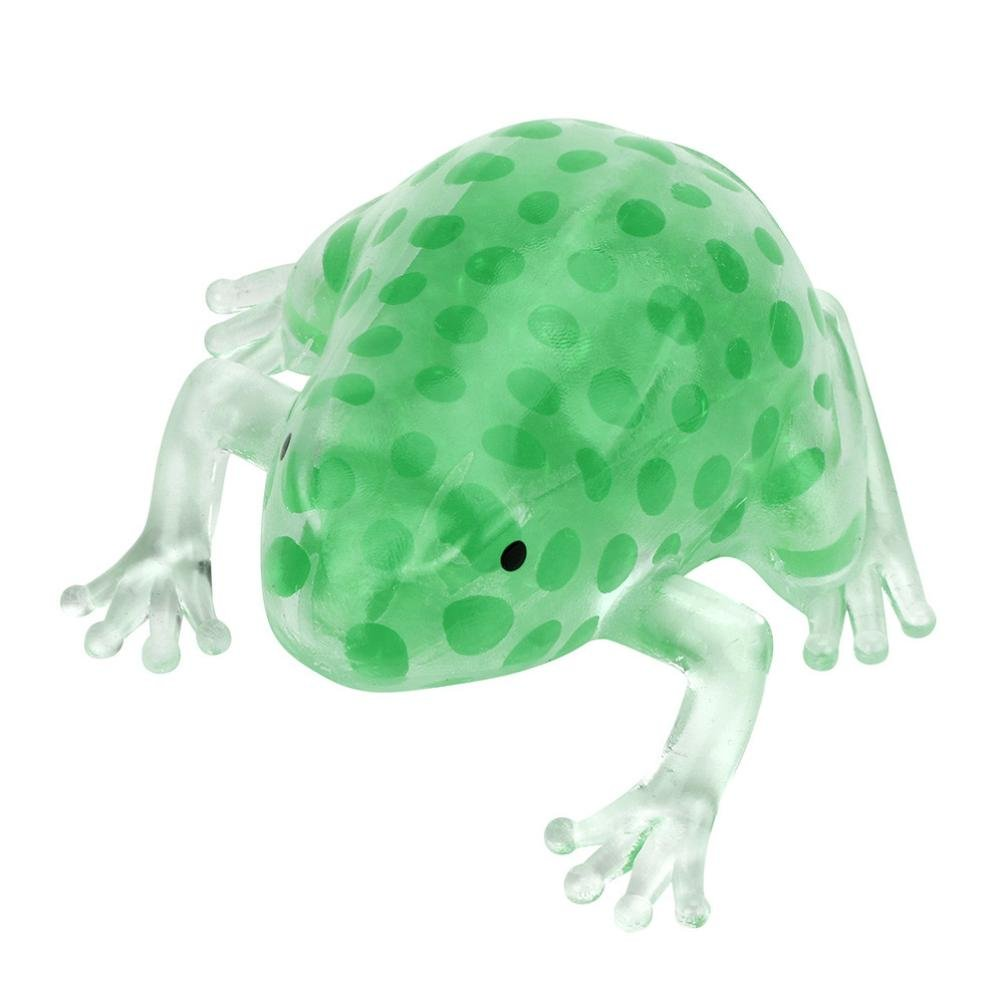 Hunzed Kids Adults Polystyrene Novelty Bead Stress Ball Sticky Squeeze Frogs Squeezing Stress-Relief Toys