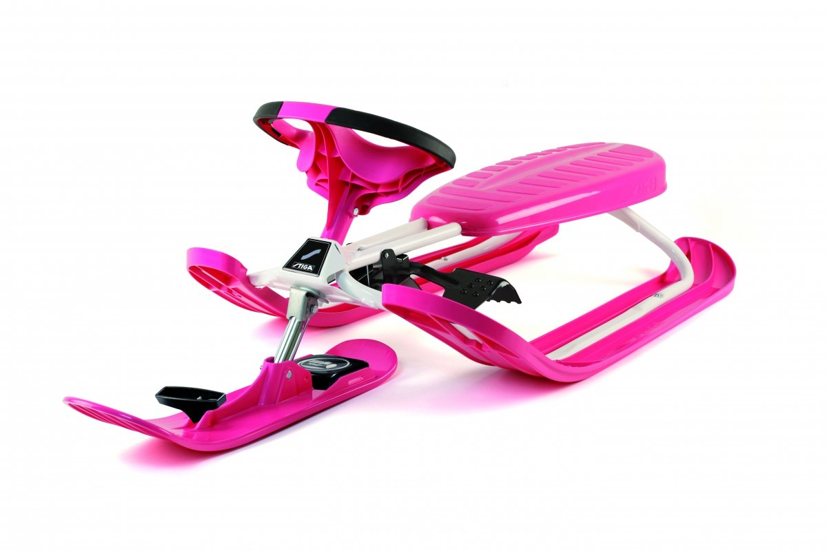STIGA Schlitten Snow Racer Color Pro, Pink, 73-2322-07