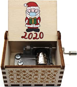 Buildinest Merry Christmas Music Box - Gifts for Holiday, Christmas, Woman, Kids - 1 Pc(Santa-2020)