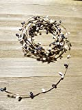 Black and White Pip Berry Single Ply Garland 18' Country Primitive Floral Craft Decor - 3 Strands of 6' Garland that Can Be Utilized Separately or Twisted together to Equal 18 Feet Of String Garland