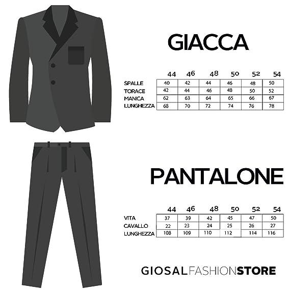 Giosal Abito Elegante Uomo Vestito Smoking Raso Bottoni Blu Royal Tasche  Classico Suits  Amazon.it  Abbigliamento 1ba88997f2b