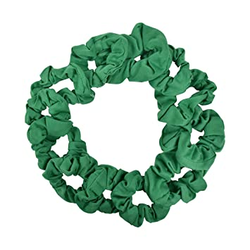 Amazon.com   12 Pack Solid Hair Ties Scrunchies - Kelly Green   Beauty 83bac454305
